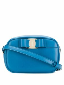 Salvatore Ferragamo Vara bow shoulder bag - Blue