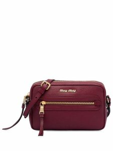 Miu Miu zip front crossbody bag - Red