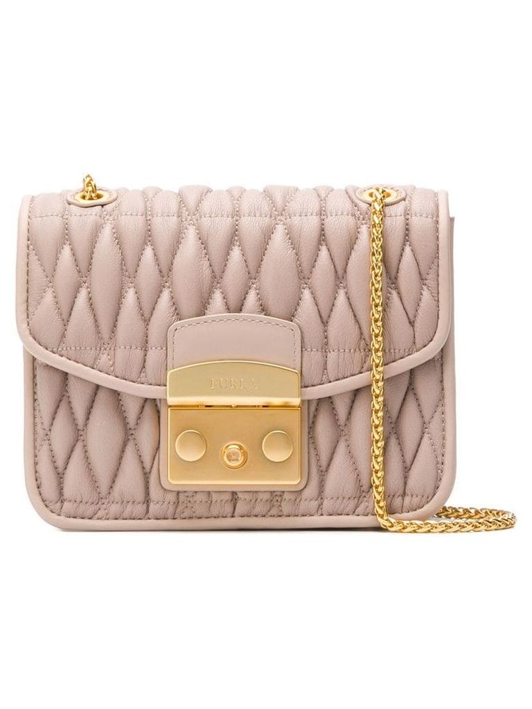 Furla Metropolis Cometa quilted cross body bag - Neutrals