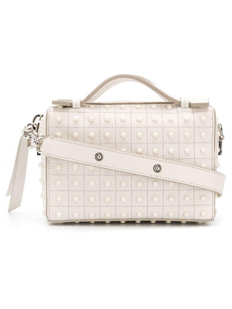 Tod's studded cross-body bag - White