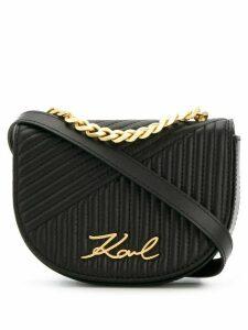 Karl Lagerfeld quilted belt bag - Black