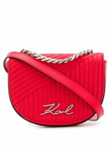 Karl Lagerfeld quilted belt bag - Red