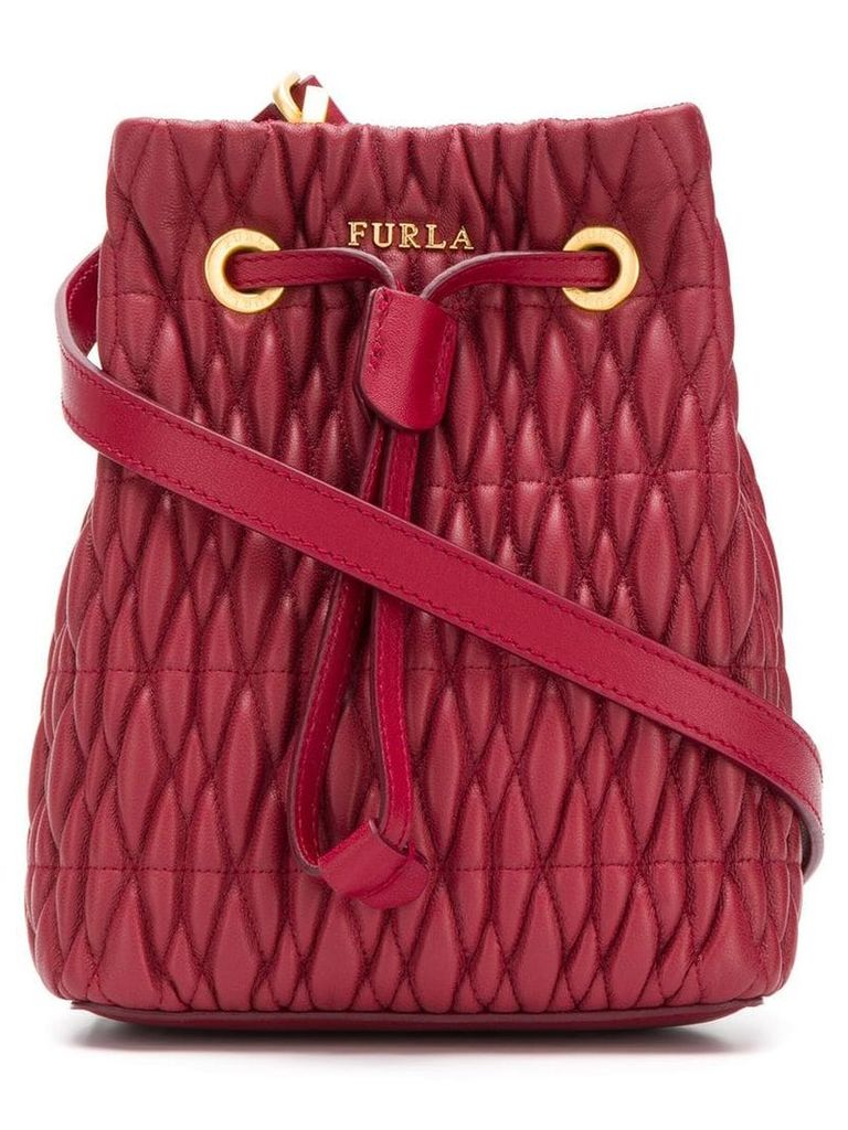 Furla Stasy Cometa nappa quilted bag - Red