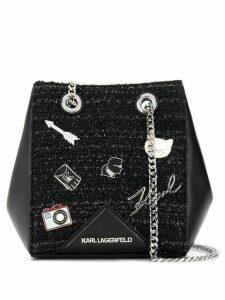 Karl Lagerfeld K/Klassik Pins bucket bag - Black