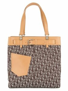 Christian Dior Pre-Owned Trotter pattern tote bag - Brown
