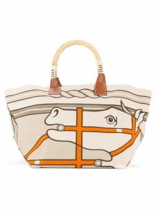 Hermès Pre-Owned 2011 Sac Steeple Toile tote bag - Beige, Brown, Etc