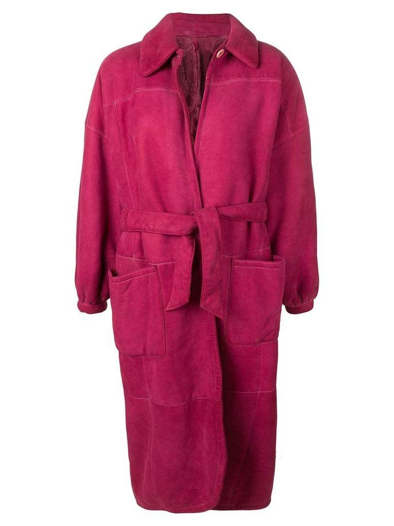 Gianfranco Ferre Vintage 1980's belted coat - Pink