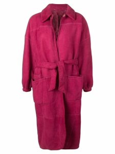 Gianfranco Ferre Pre-Owned 1980's belted coat - Pink