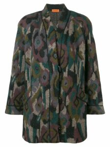 Missoni Pre-Owned patterned coat - Black
