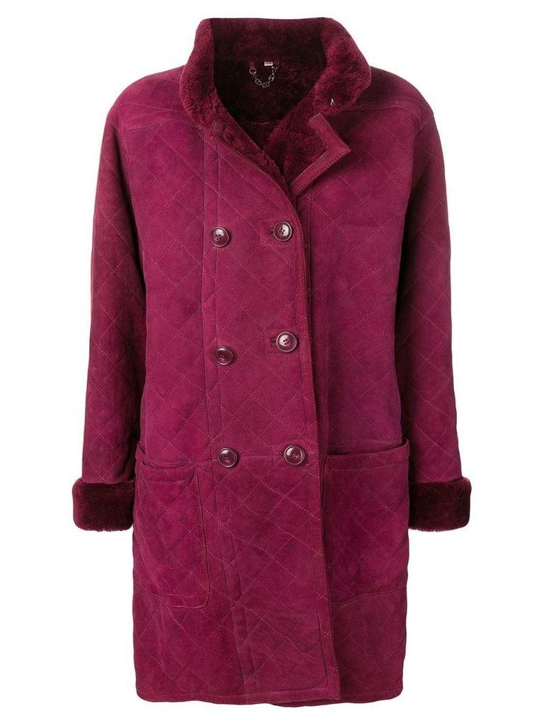 Yves Saint Laurent Vintage 1980's Fourrure coat - Purple