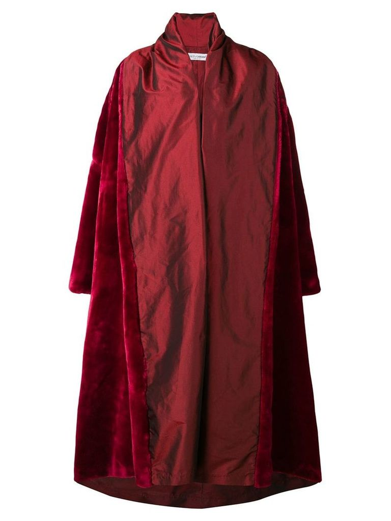 Dolce & Gabbana Vintage 1990 oversized coat - Red