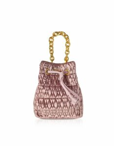 Furla Designer Handbags, Quilted Velvet Stacy Cometa Mini Drawstring Bucket Bag