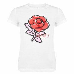 Kenzo Rose Short Sleeved T Shirt