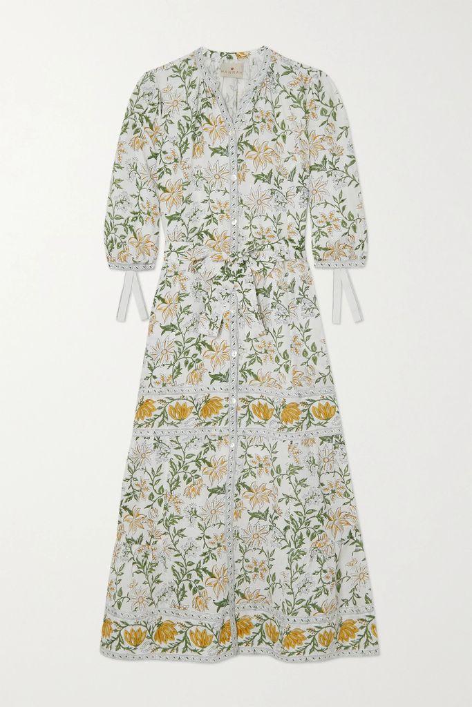 Lisa Marie Fernandez - Ruched Metallic Swim Skirt - Bronze