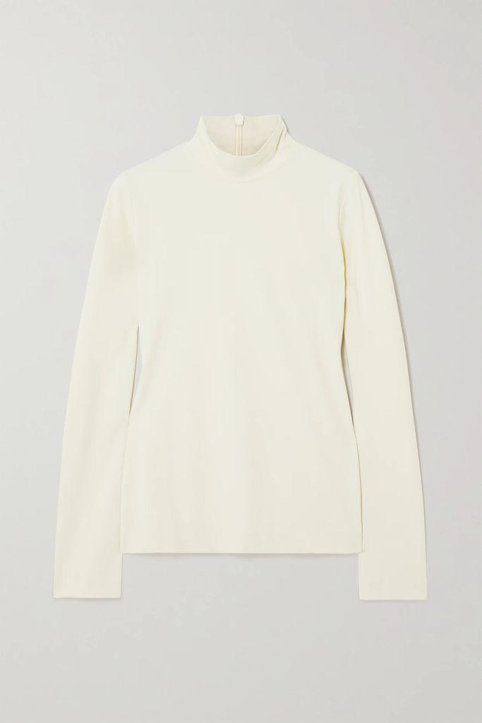 MICHAEL Michael Kors - Fluted Stretch-knit Mini Dress - Brick