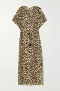 Akris - Pintucked Stretch Cotton-blend Dress - Red