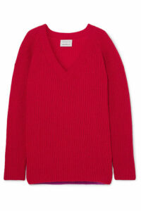 Borgo De Nor - + Edamame London Ribbed Wool Sweater - Red