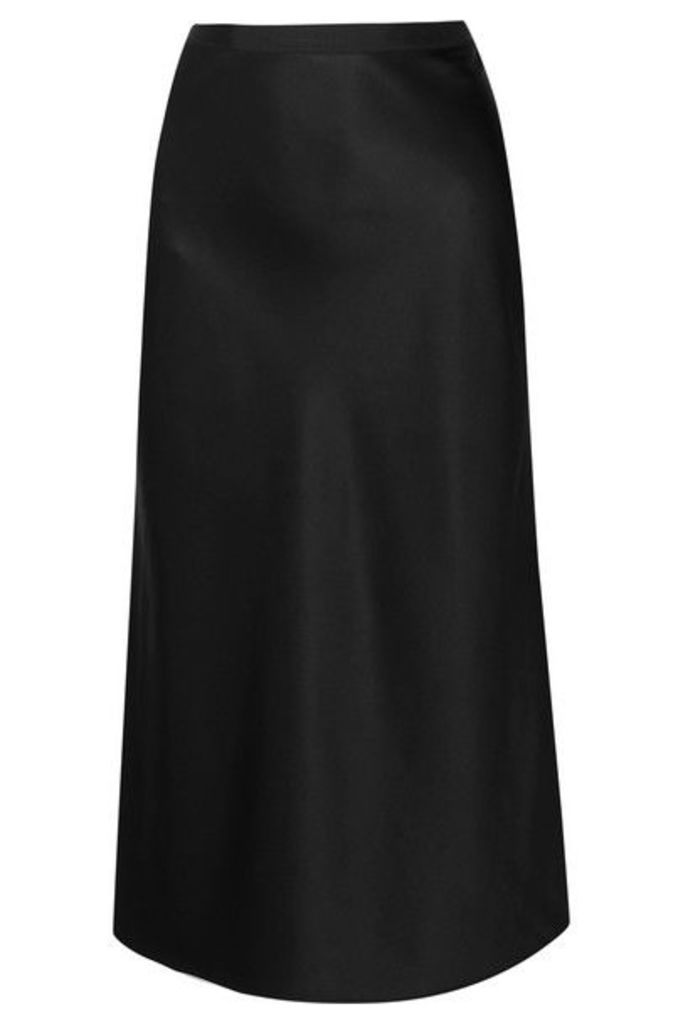 Joseph - Hurst Silk-satin Midi Skirt - Black