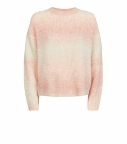 Pale Pink Space Dye Brushed Jumper New Look