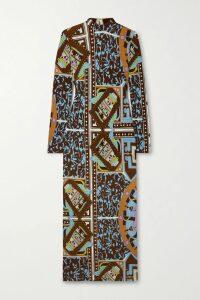 Les Rêveries - Ruffled Floral-print Silk-crepe Mini Dress - Yellow