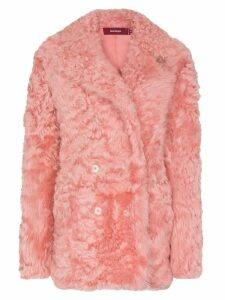 Sies Marjan Pippa shearling pea coat - Pink