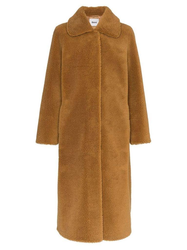 Stand Gilberte Teddy faux-fur coat - Brown