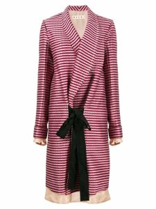 Marni oversized striped coat - PINK