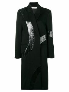 Victoria Beckham appliquéd coat - Black