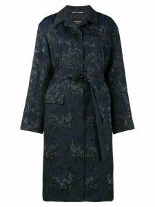Rochas floral jacquard opera coat - Blue
