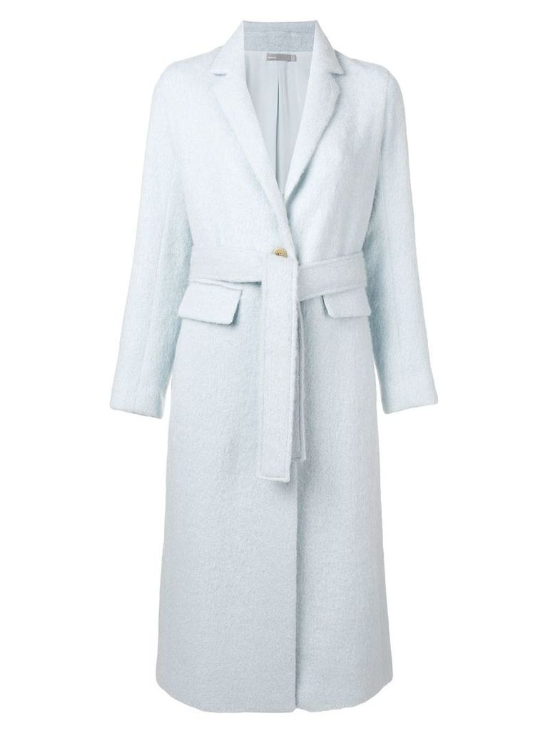 Vince single breasted wrap coat - Blue