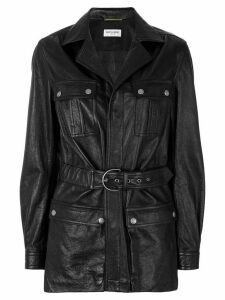 Saint Laurent belted coat - Black