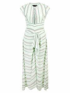 Proenza Schouler Crêpe Striped Tied Dress - Green