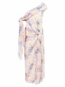 Carolina Herrera off-the-shoulder draped dress - White