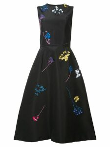 Carolina Herrera floral embroidered dress - Black