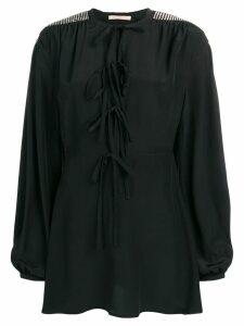 Christopher Kane crystal bow mini dress - Black