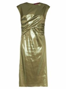 Sies Marjan Edie Laminated Wrap Dress - Green