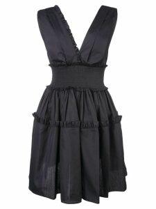 Fausto Puglisi plunge neck mini dress - Black