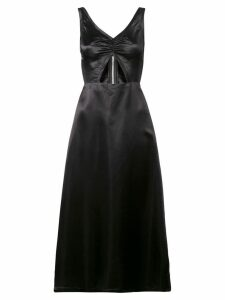 Jill Stuart satin cut out midi dress - Black