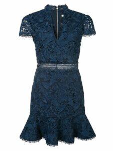 Alice+Olivia Diona lace mini dress - Blue