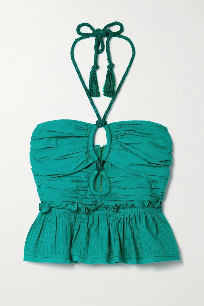 Cecilie Bahnsen - Pleated Taffeta Maxi Dress - Black
