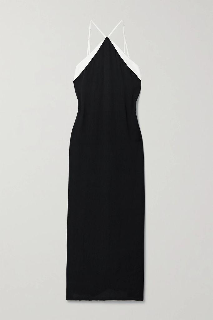 Seren - Floral-print Silk-satin Wrap Dress - Red