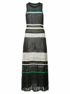 Proenza Schouler Striped Knit Dress - Black