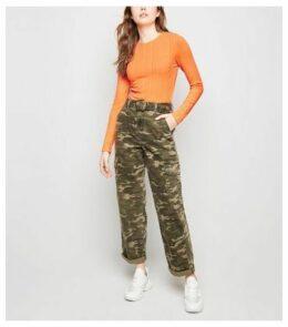 Bright Orange Neon Long Sleeve Top New Look