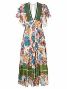 GINGER & SMART Submerge floral print dress - Multicolour