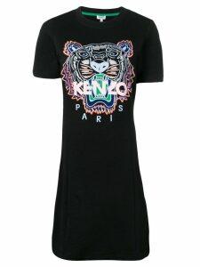 Kenzo tiger print T-shirt dress - Black