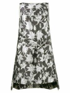 Osman metallic brocade shift dress - Grey