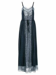 Chloé panelled drawstring dress - Blue