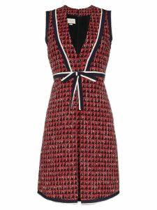 Gucci geometric tweed dress - Black