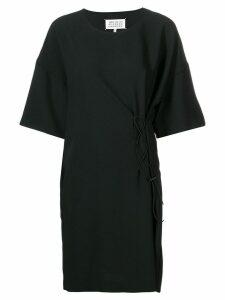 Maison Margiela short-sleeve drawstring dress - Black
