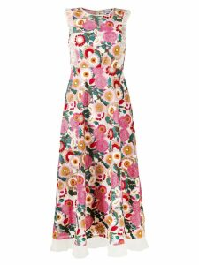 Red Valentino floral print dress - Neutrals